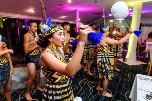 World Indiginous Touridsm Summit - Kapa Haka group entertain during dinner. Photo by Mark Coote/ markcoote.com
