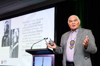 World Indigenous Tourism Summit 2018. Opening Session. Ben Sherman, Chairman of WINTA. Photo by Mark Coote/ markcoote.com