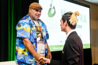 World Indigenous Tourism Summit 2018. Panel Discussion. Photo by Mark Coote/ markcoote.com