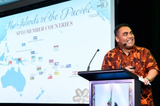 World Indigenous Tourism Summit 2018. Chris Cocker from Tonga. Photo by Mark Coote.