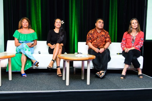 World Indigenous Tourism Summit 2018. Panel discussion on day 2, session 1. Photo by Mark Coote.