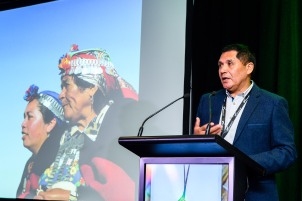 World Indigenous Tourism Summit 2018. Pablo Calfuqueo Lefio, Chile. Photo by Mark Coote.