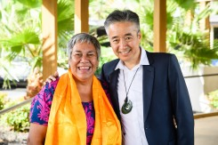 World Indigenous Tourism Summit 2018. Norbu Tenzing and Pania Tyson-Nathan. Photo by Mark Coote/ markcoote.com